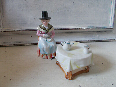Vintage Welsh Tea Party Ornament Model Very Good Condition • 5.99£