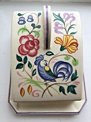 Poole Pottery LE Bluebird Floral Pattern Butter/Cheese Dish • 10£