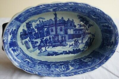 Victoria Ware Ironstone Blue And White Flow Bowl /dish With Handles • 19.50£