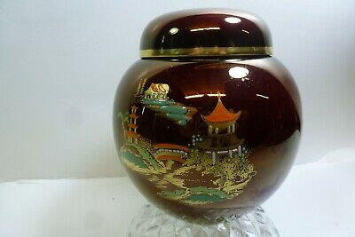 Carlton Ware Rouge Royale Mikado Lidded Jar • 11.99£