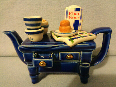 ** Cardew Studio Limited Edition Rare Blue Baking Day Teapot ** Excellent Con ** • 24.99£