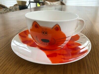 Jane Brookshaw Dunoon Cool Cats Collectable Bone China Cup And Saucer • 5£