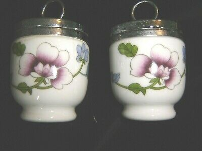 Two Matching  Royal Worcester China Egg Coddlers • 6.49£