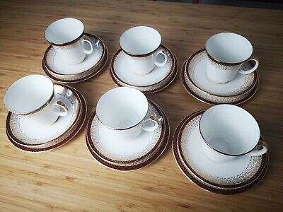 VINTAGE ROYAL GRAFTON RED MAJESTIC 6 X CUP,SAUCER, TEA PLATES • 20£