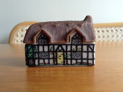 Collectable WADE 1980s Miniature Porcelain House Tiny Whimsey Cottage VGC • 3£