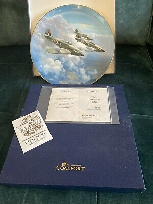 Coalport The Hurricane Plate' 1987 By Frank Wootton • 5£