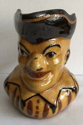 H M Exeter Pottery Mr Punch Jug Torquay Interest • 9.99£