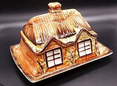 Vintage Price Bros COTTAGE WARE Butter Dish / Cheese Dish House Collectable • 4£