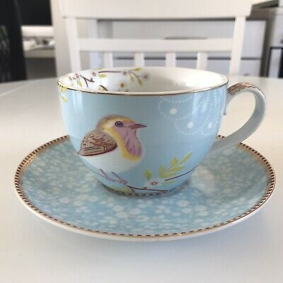Pip Studio Cup And Saucer Blue • 10£