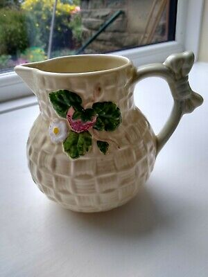 Shorter Art Deco  Jug With Flower And Strawberry On Side. • 2.50£