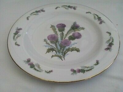 Dinner/display/serving Plate, Royal Vale, Bone China, Thistle Pattern, Gilded • 10£