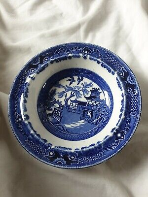 Burleighware Blue And White Plate/Bowl  Willow Pattern • 0.99£