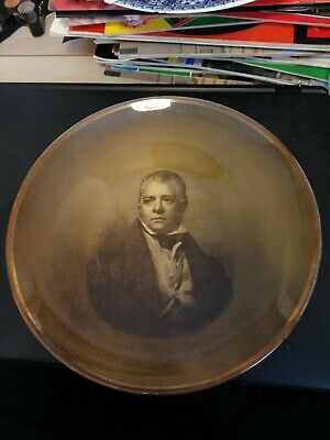 Ridgways Sepia Coloured Plate Depicting Sir Walter Scott • 4£