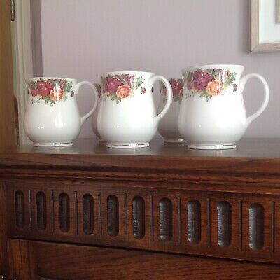 Five Heritage Old Country Roses Pattern China Mugs • 9.99£