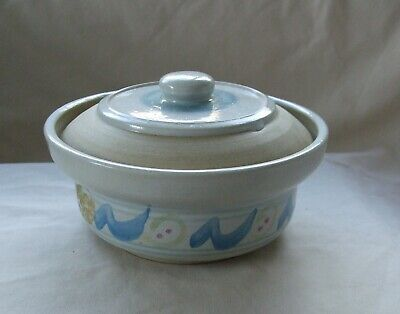 Moville Pottery Hand Made & Painted In Ireland Traditional Butter / Cheese Dish • 14.99£