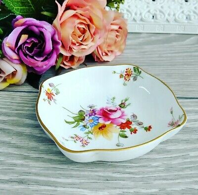 Royal Crown Derby Miniature Dish Butter Pat Floral Collectable Bone China • 4.99£