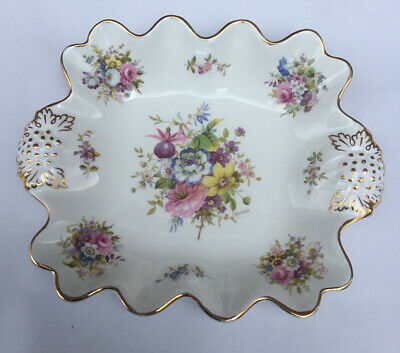 Hammersley Hand Painted Howard Sprays China Floral Centrepiece Signed F Howard • 22£