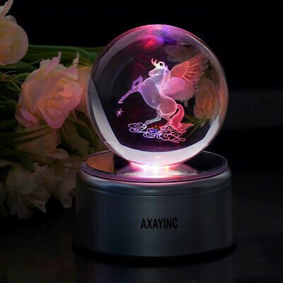 Animal Pegasus Crystal 3D LED Pokeball Night Table Lamp Child Birthday Gift Toy • 29.49£