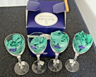 4x Royal Doulton Finest Crystal Oxford Table Wine Glasses BNIB - 23 • 9.95£