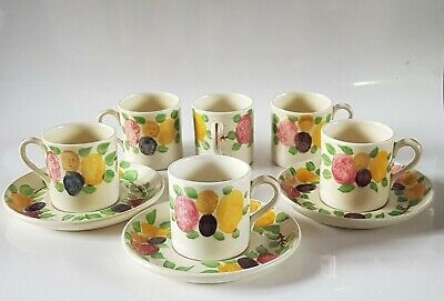 Vintage Ridgways, Hand Painted Bedford Ware, California 6 Small Cups & 3 Saucers • 9.99£