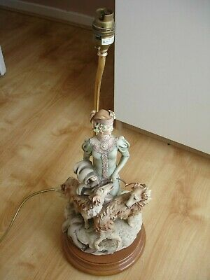 Guiseppe Armani Florence Lady With Dogs Borzois Lamp Circa 1985 Retired • 199.99£