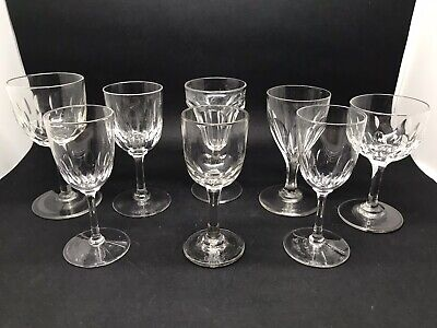 """Small Collection Of 8 Vintage Glasses Including """"J Rose & Co"""". (or19) • 22.50£"""