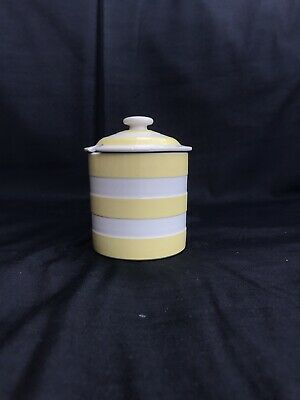 Vintage T G Green, Yellow Cornishware Marmalade Jam Pot With Lid Excellent • 27.99£