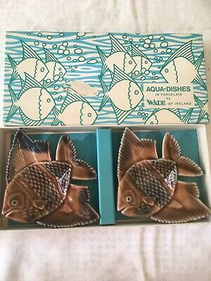 Wade Aqua Dishes Angel Fish Vintage Fine In Box • 4.50£