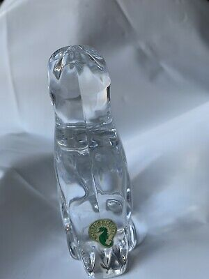 """Waterford Crystal Cat """"looking Up"""" • 16£"""