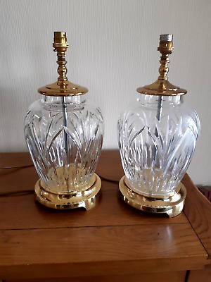 Waterford Crystal Table Lamps (Pair) • 99.99£