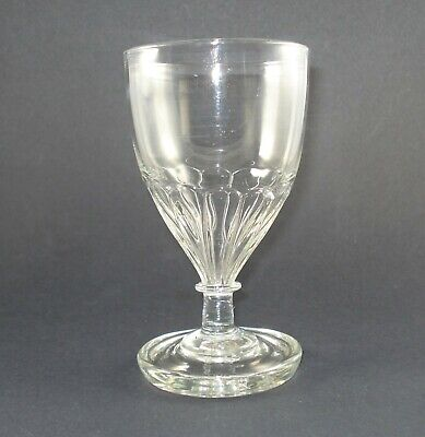 Rare Georgian Mould-Blown Flange Foot Rummer Or Goblet Circa 1800  • 11.61£