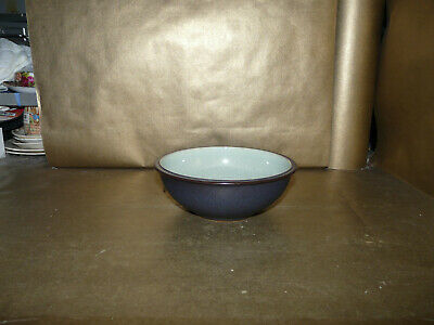 Denby Energy Cereal / Soup Bowl 7  Diameter Charcoal And Green • 15.99£
