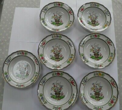 """Spode Copeland"""" Old Bow """"  7 X Soup Plates Rd Number 599813 • 64.99£"""