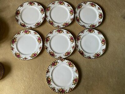 Royal Albert Old Country Roses Dinner Plates X 7 • 16£