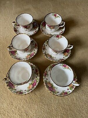 Royal Albert Old Country Roses Tea Cups & Saucers X 6 • 11.50£