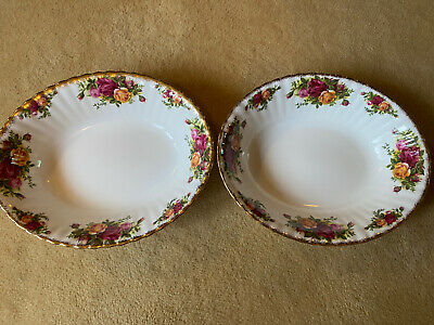 Royal Albert Old Country Roses  Serving Dishes X 2 • 7.50£