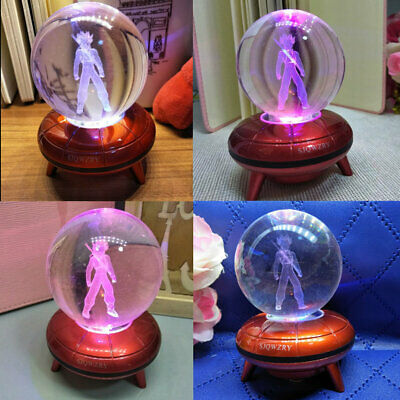 Dragon Ball Z Trunks 3D LED Crystal Decor Night Light Table Lamp Gift RGB • 18.69£