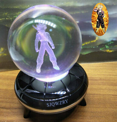 Dragon Ball Z Trunks 3D LED Crystal Decor Night Light Table Lamp Gift RGB • 17.49£