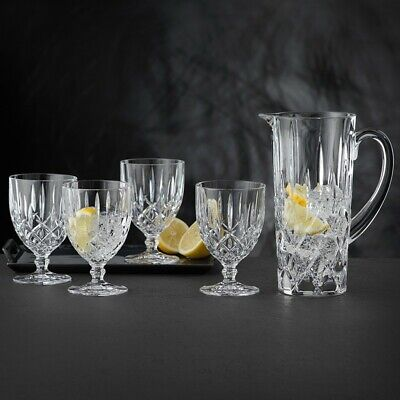 Nachtmann Noblesse Collection - Pitcher & Tall Goblets Glasses Set Of 5 • 29.95£
