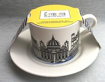 Lovely New Unused Portmeirion City Scapes Cup And Saucer Rome • 10£