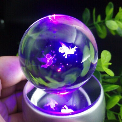 Gift Angel 3D Home Decor LED Crystal Ball Night Light Table Lamp Crafts Toy Love • 17.49£