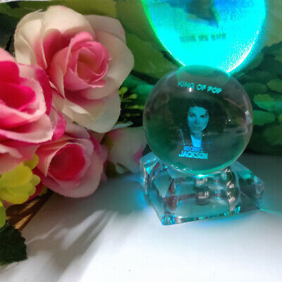 Jackson Crystal Night Light Table Lamp Birthday Crafts Gift Kid  Toy Souvenir  • 17.99£