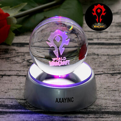 WOW World Of Warcraft Horde 3D Crystal Night Light LED Xmas Lampk Gift Kid Toy • 16.99£