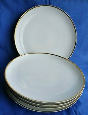 5 X Thomas By Rosenthal White With Gold Trim Dinner Plates (LR255) • 25.50£