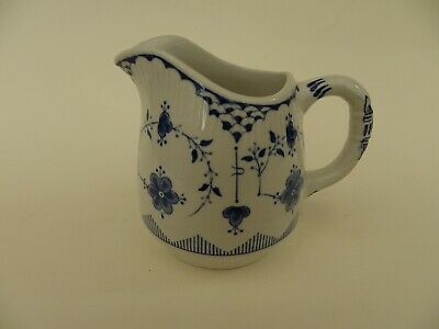Furnivals Denmark Blue & White Milk Jug, Overall Height 3.5  • 10.50£