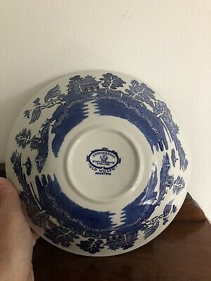 X 2 Swinnertons Staffordshire Old Willow Serving Bowls • 25.99£