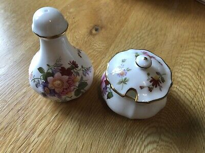 DERBY CHINA Posies Salt And Mustard Bowl  • 11.99£