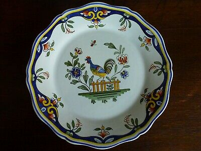 Antique Hand Painted And Signed  Plate From  Rouen  11  • 10£