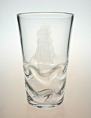 Orrefors Vase By Lindstand Ship With Wave Effect - Signed • 69.99£