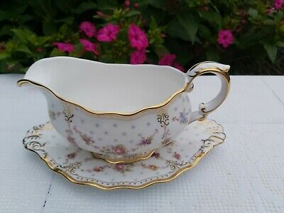 Royal Crown Derby Royal Antoinette Sauce Boat With Stand  • 220£